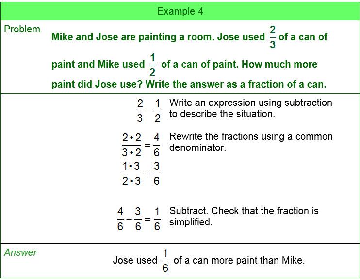 math fraction problems