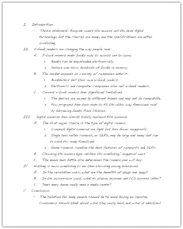 lesson the writing process in the previous example the outline follows the standard five paragraph essay arrangement but longer essays will require